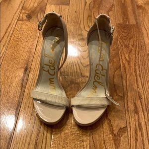 Sam Edelman Eleanor Nude Heel Size 7.5